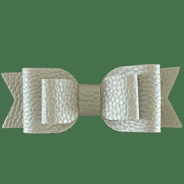 Dubbele strik haarspeldje handgemaakt 7 cm