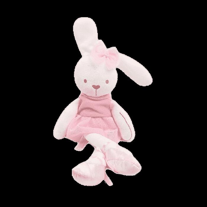 Knuffel konijn Ballerina wit