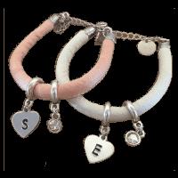 Zijde moeder kind armband