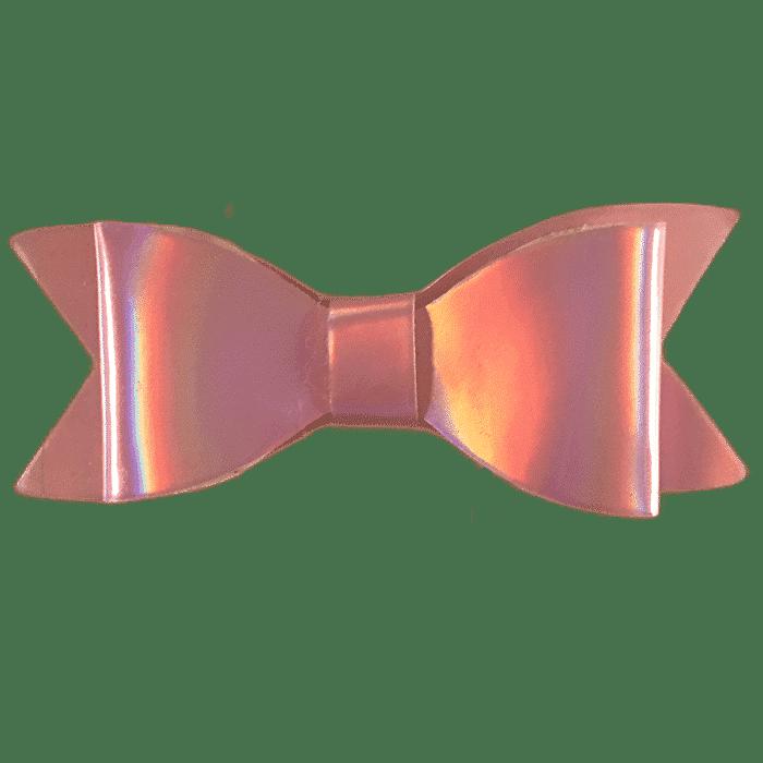 Zilver strik haarspeldje handgemaakt 7 cm