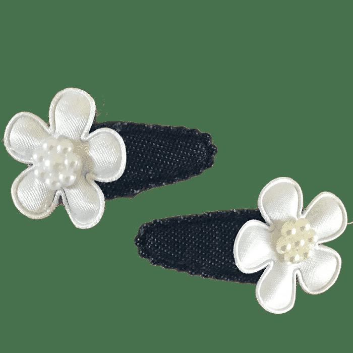 Zwart met bloem handgemaakt 4 cm