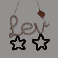 Handgemaakte punniknaam met sterren