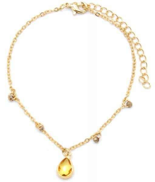 Armband gouden steen