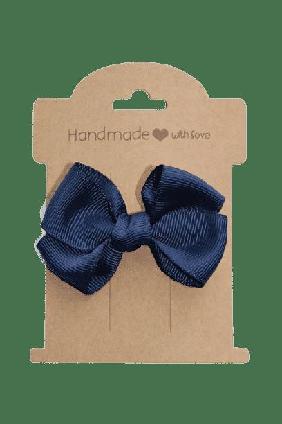 Donker blauw strik groot klipje