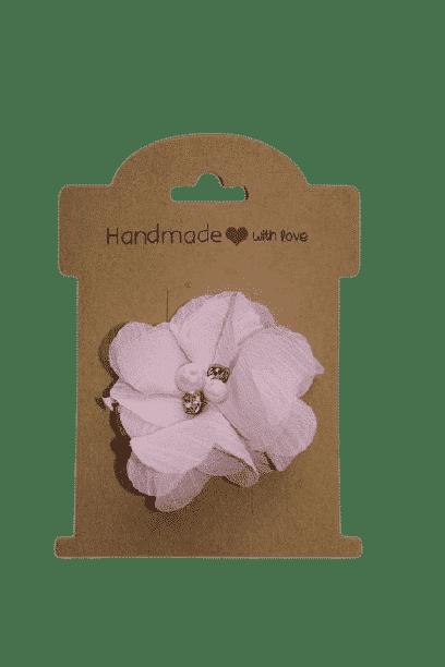 Parel roze bloem speldje