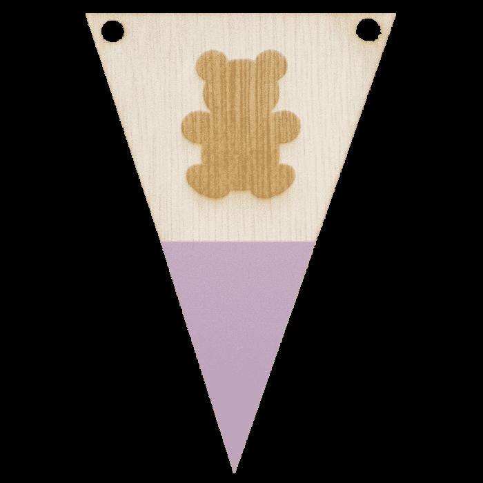 Beervlag met punt in kleur gegraveerd