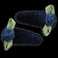 Blauw roos klipje handgemaakt 3 cm