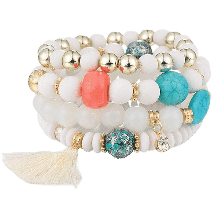 Bohemian Power Slake armband wit