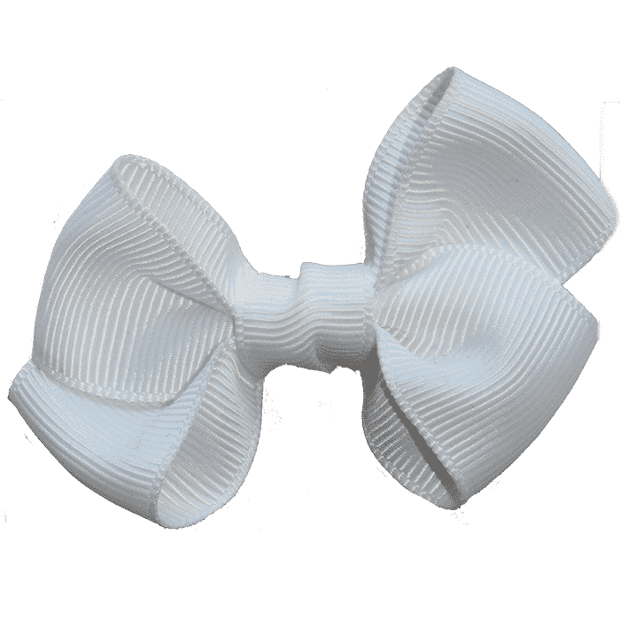 Grote witte strik speldje handgemaakt 7 cm
