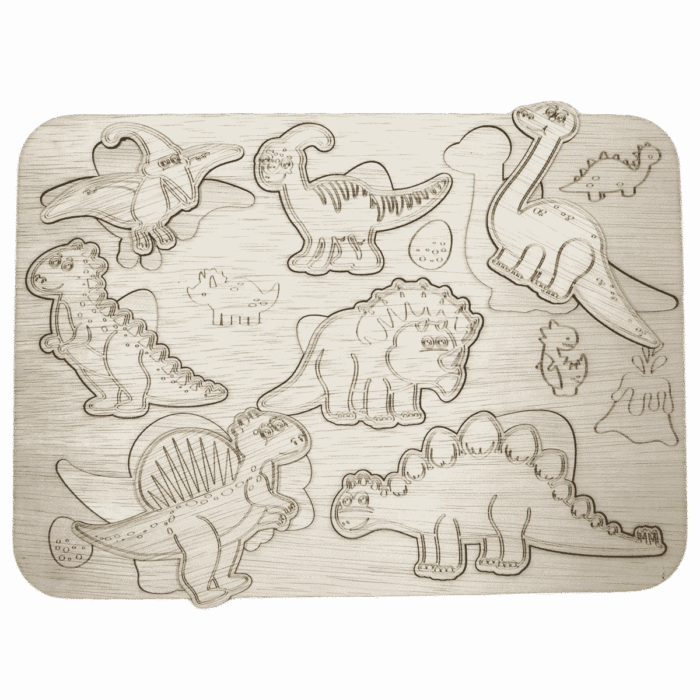Houten dinosaurus inlegpuzzel