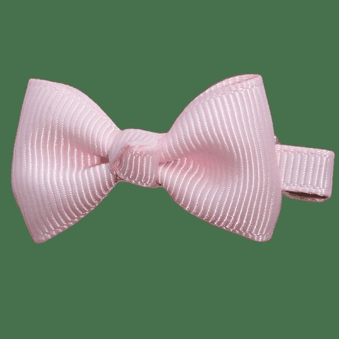 Klein strik roze klipje handgemaakt 5 cm