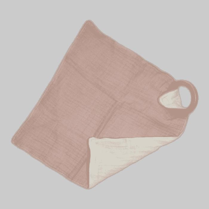 Knuffeldoek met bijtring roze