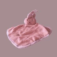 Knuffeldoek zacht konijn roze