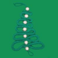 Punnik kerstboom donker groen