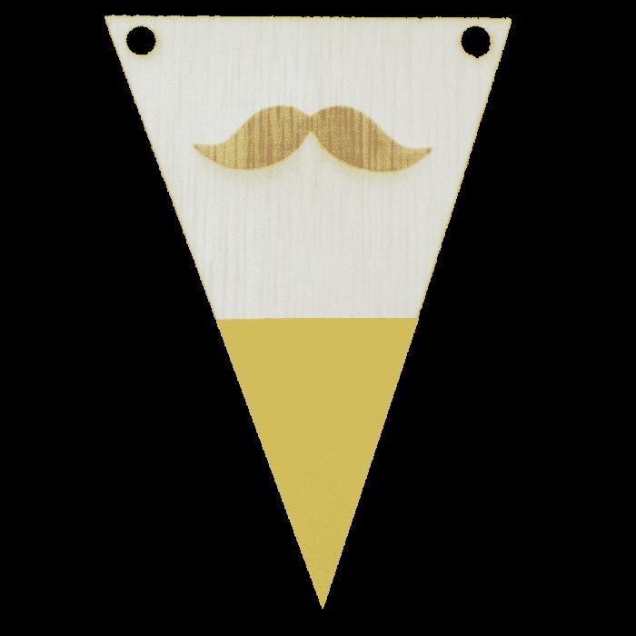 Snorvlag met punt in kleur gegraveerd