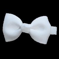 Strik wit klein speldje handgemaakt 5 cm