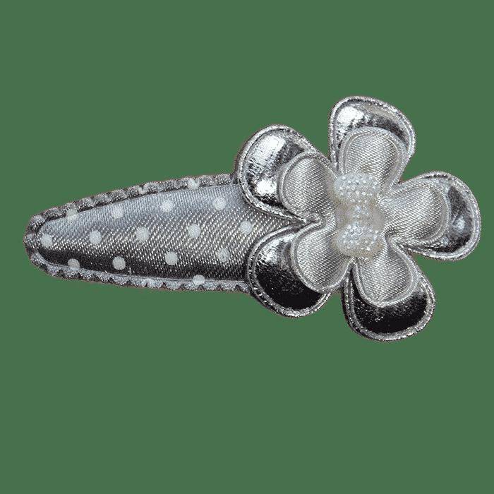 Zilver haarspeldje met bloem handgemaakt 6 cm
