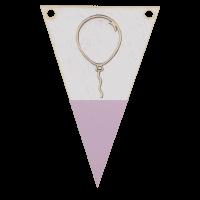 Balonvlag met punt in kleur 3d