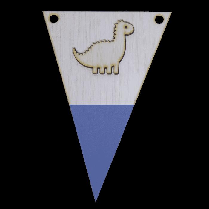 Dinovlag met punt in kleur 3d