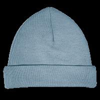 Funnies Babymutsje grijs blauw 50-56 met naam