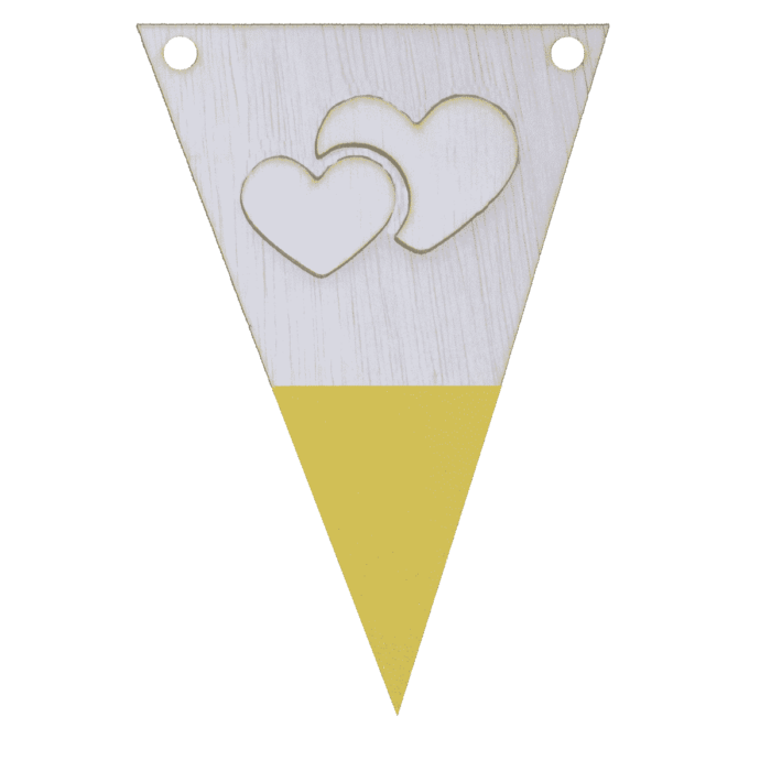 Hartenvlag met punt in kleur 3d