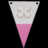 Klavertjevlag met punt in kleur 3d