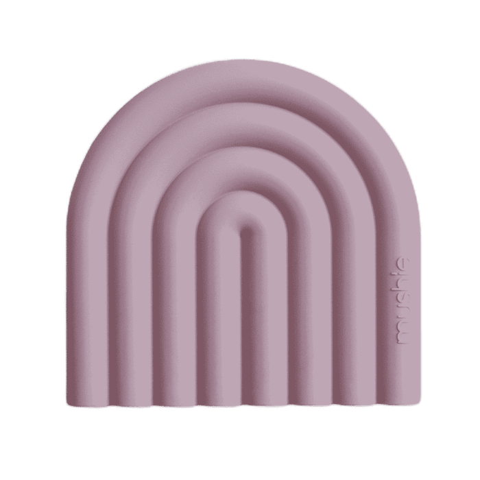 Mushie regenboog bijtring Mauve