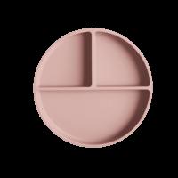 Mushie siliconen bord met zuignap Blush