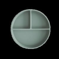 Mushie siliconen bord met zuignap Cambridge Blue