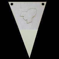 Raketvlag met punt in kleur 3d