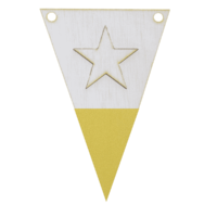 Stervlag met punt in kleur 3d