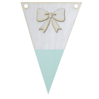Strikvlag met punt in kleur 3d