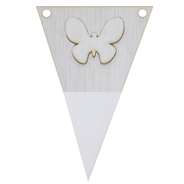 Vlindervlag met punt in kleur 3d