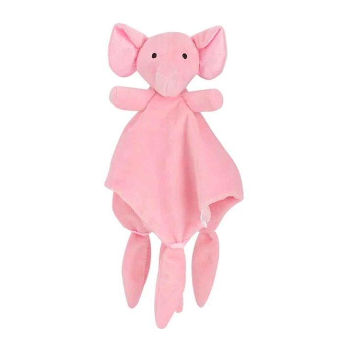 Tuttendoek zacht olifantje roze