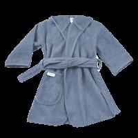 Badjas Uni Line Grey-Blue 1-2jr met naam geborduurd