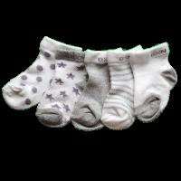 Grijze set baby sokjes 0 tot 1 jaar