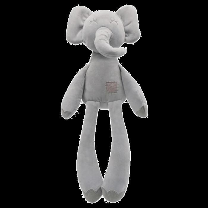 Knuffel baby olifant grijs 36 cm