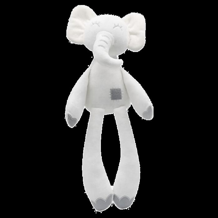 Knuffel baby olifant wit 36 cm